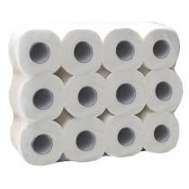 Туалетная бумага 3 слоя Eco Point 24 рулона, белая