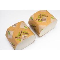 Папір туалетний листовий 2 шари Eco Point Soft 300 листів, гладкий, білий