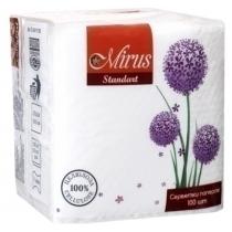 Салфетки бумажные Mirus, 1 слой, 23 х 24 см, 100 шт