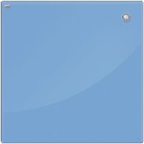 Дошка скляна магнітна для письма маркером, блакитний колір 60х80 см.