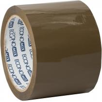 Лента клейкая упаковочная (скотч) Economix, коричневая, 72мм*66м