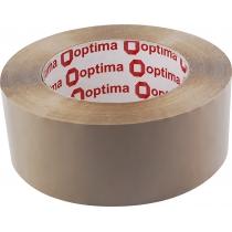 Лента клейкая упаковочная (скотч) Optima, коричневая, 48мм*160м