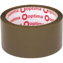 Стрічка клейка пакувальна (скотч) Optima Extra, коричнева, 48мм*50м
