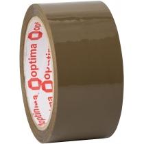 Стрічка клейка пакувальна (скотч) Optima Extra, коричнева, 48мм*70м