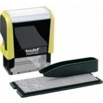 Штамп самонабірний TRODAT Printy 4911, 3 ряд., 38х14 мм, укр-рос, неон жовтий