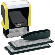 Штамп самонабірний TRODAT Printy 4912, 4 ряд., 47х18 мм, укр-рос, неон жовтий