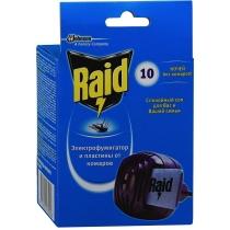 Фумигатор с пластинами в коробке Raid 10 шт