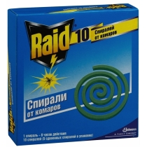 Спирали от комаров Raid