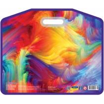 """Портфель пластиковий на липучці """"Colourful"""", А3"""
