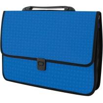Портфель на застежке «Вышиванка», синий