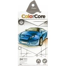 """Карандаши цветные """"ColorCore"""", 24 цвета, шестиугольные, 4,0 мм"""