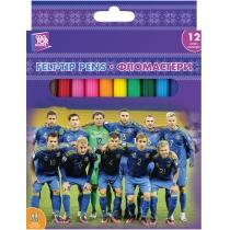 Фломастеры Football, 12 цветов