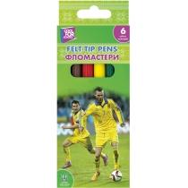 Фломастеры Football 6 цветов