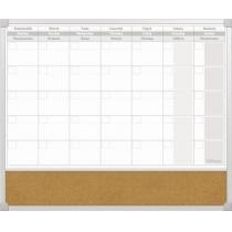 Планер на тиждень з комбінованою поверхнею маркер/корок 50х60 см