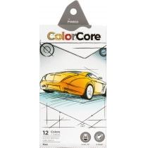 """Карандаши цветные """"ColorCore"""", 12 цветов, шестиугольные, 4,0 мм"""