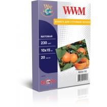 Фотобумага WWM 10x15см, 230г/м2, матовая, 20 л.