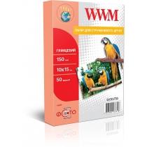 Фотобумага WWM 10x15см, 150г/м2, глянцевая, 50 л.