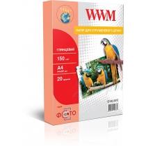 Фотобумага WWM A4, 150г/м2, глянцевая, 20 л.