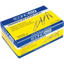 Скрепки треугольные Economix; 25 мм / 100 шт