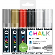 Набор маркеров меловых CHALK Marker Basic-Set 1,  4-8 мм, 6 шт.