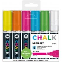 Набор маркеров меловых CHALK Marker Basic-Set 2, Neon, 4-8 мм, 6 шт.