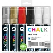 Набор маркеров меловых CHALK Marker Basic-Set1,15 мм, 6 шт.