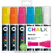 Набор маркеров меловых CHALK Marker Basic-Set2, Neon, 15 мм, 6 шт.