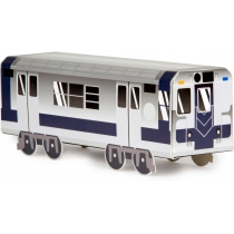 Модель вагона метро NYC, 10,4 x 8,2 x 24,5 cм