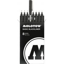 Набір маркерів-лінерів Blackliner, 8 шт.