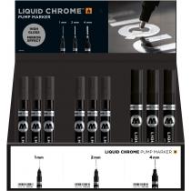 Набор спиртовых маркеров LIQUID CHROME 1мм, 2 мм, 4 мм; 36 шт.