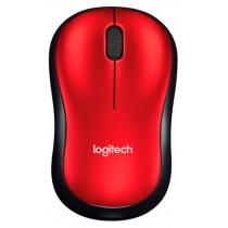 Мышь беспроводная компьютерная LOGITECH Wireless Mouse M185 - EER2 - RED