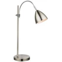 Лампа настільна (24857) Globo 40 Вт E14 нікель