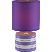 Лампа настольная (21661) Globo 40 Вт E14 фиолетовая