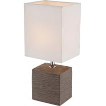 Лампа настольная (21677) Globo 40 Вт E14 коричневая