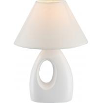 Лампа настільна (21670) Globo 40 Вт E14 біла