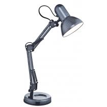 Лампа настольная (24892) Globo 40 Вт E27 карбон