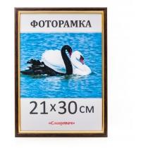 Фоторамка А4, 21*30, 1415-06, коричневая с золотом