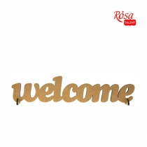 """Заготовка напис """"WELCOME"""", МДФ, 45х12см, ROSA TALENT"""
