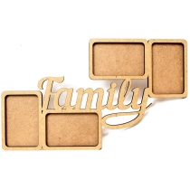 "Заготовка рамка ""Family"", МДФ, 50х30х0,6 см, ROSA TALENT"