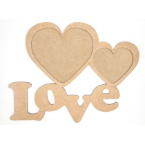 "Заготовкa рамка ""Love"", МДФ, 28,5х37см, ROSA TALENT"