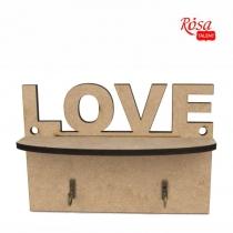 "Ключниця ""Love"" , МДФ, 20х6,5х14см, ROSA TALENT"