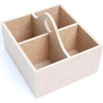 Шкатулка для чаю, 4 ячейки, МДФ, 18 х16 х12,5 см, ROSA TALENT