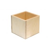 Стакан деревянный, 11х11х10см, ROSA TALENT