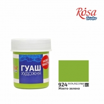 Фарба гуашева, Жовто-зелена, 40мл, ROSA Studio