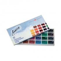 Набор акварельных красок, Ладога, 24 цв., кювета, картон