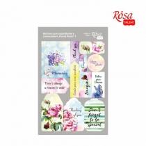 """Висічки для скрапбукінгу, самоклеючі """"Floral Poem"""" 1, картон, 12,8х20 см, ROSA TALENT"""