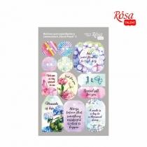 """Висічки для скрапбукінгу, самоклеючі """"Floral Poem"""" 2, картон, 12,8х20см, ROSA TALENT"""