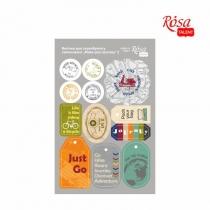 """Высечки для скрапбукинга, самоклеящиеся """"Make your journey"""" 2, картон, 12,8х20см, ROSA TALENT"""