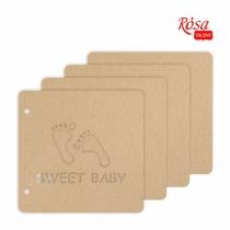 Заготовка для альбома «Sweet baby», 20*20,5см, 4 ст., ROSA TALENT