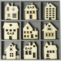 Набір міні-заготовок, Будинки, 10,5*10,5см, 45шт, Knorr Prandell